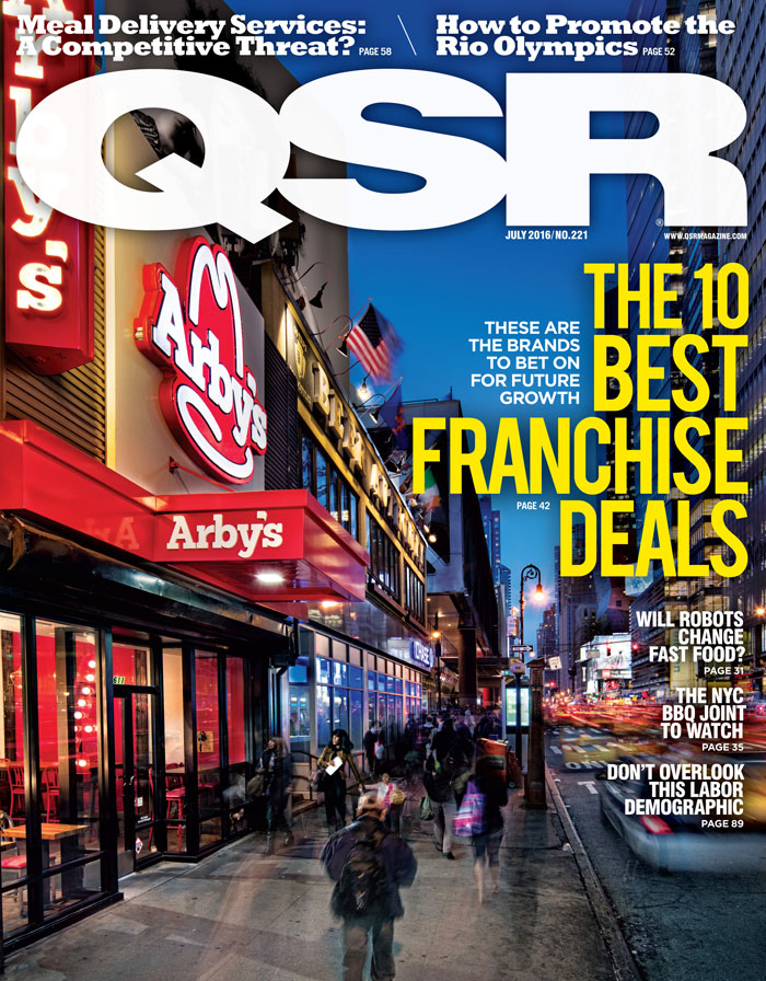 QSR has named Arby's the best franchise deal among quick-service and fast casual concepts.